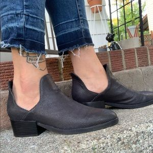 Silent d Anthropologie cut out black Chelsea boots